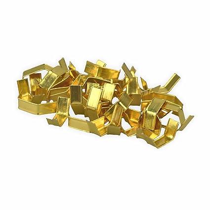 Cierre Clipse 4 cm de largo 1000 unidades, Oro Brillante ...