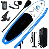 "FunWater All Round Paddle Board 11'Length 33"" Width 6"" Thick Inflatable Sup with Adjustable Paddle,ISUP Travel Backpack,Leash"