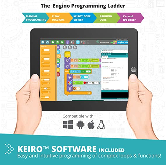 Amazon.com: Engino - Classroom & Makerspace Solutions | Robotics Produino Set - Advanced Stem Learning Activities - User-Friendly Coding (34+ Model Options) | Perfect for Home Learning, Multi: Toys & Games