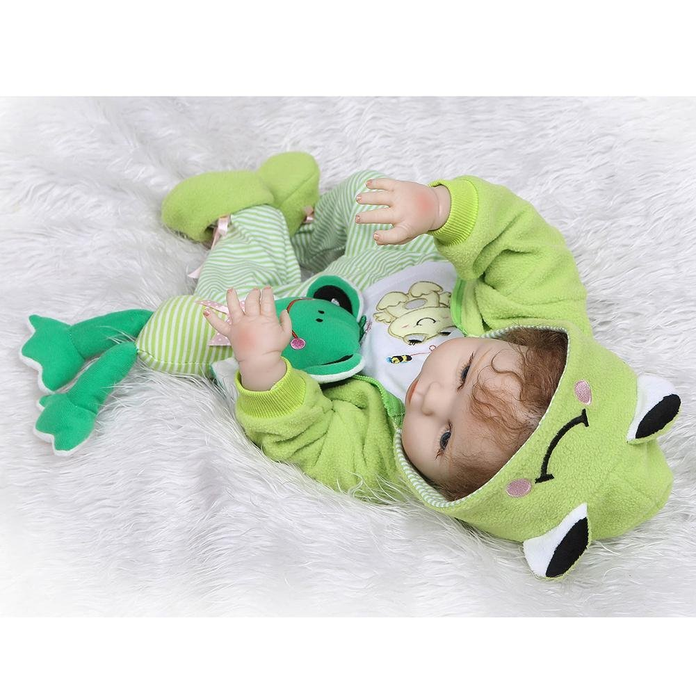 chinatera NPK Waterproof Lovely Soft Silicone 3D Lifelike Simulation Reborn Baby Doll Kids Playmate Doll Toys Gifts by chinatera (Image #6)