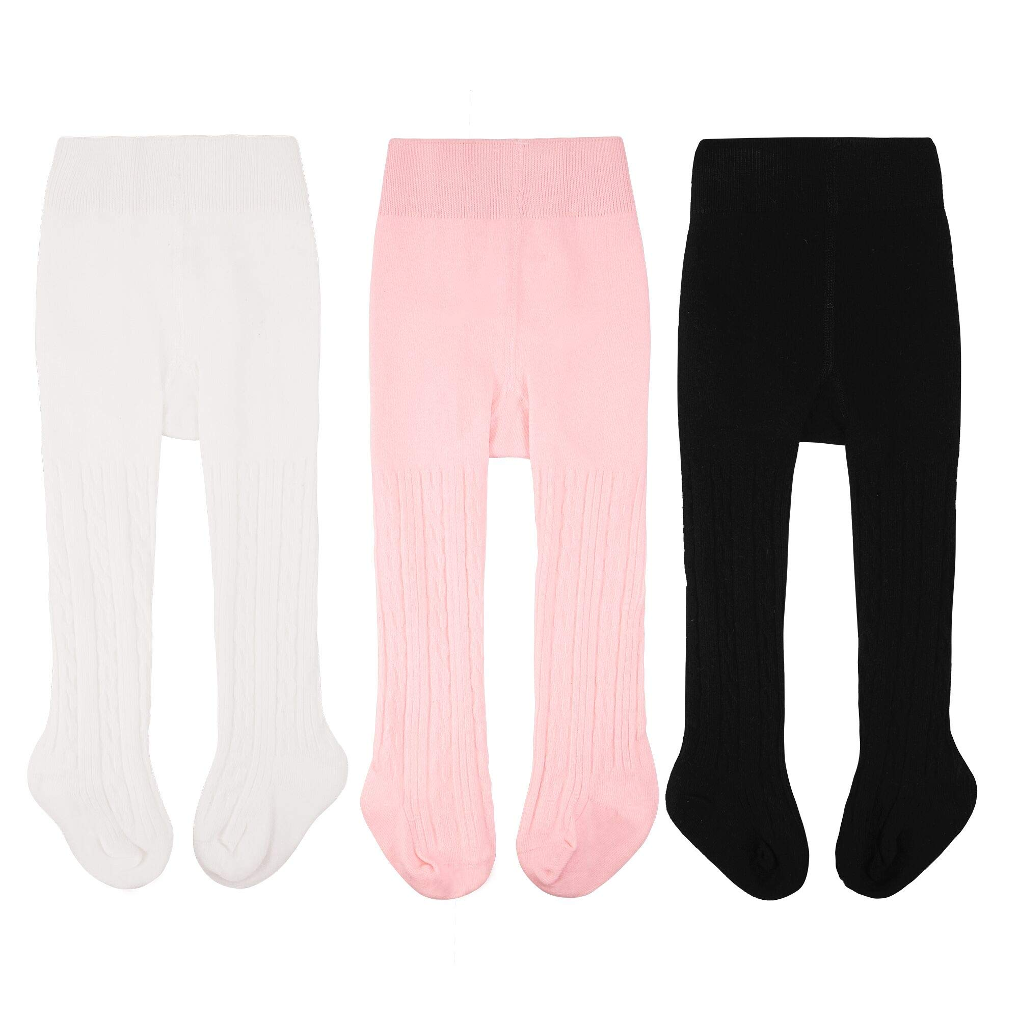 2035eced5eb56 CozyWay Baby Tights Toddler Leggings Pantyhose for Baby Girls Seamless  Cable Knit Cotton Pants Stockings 0-4 Years
