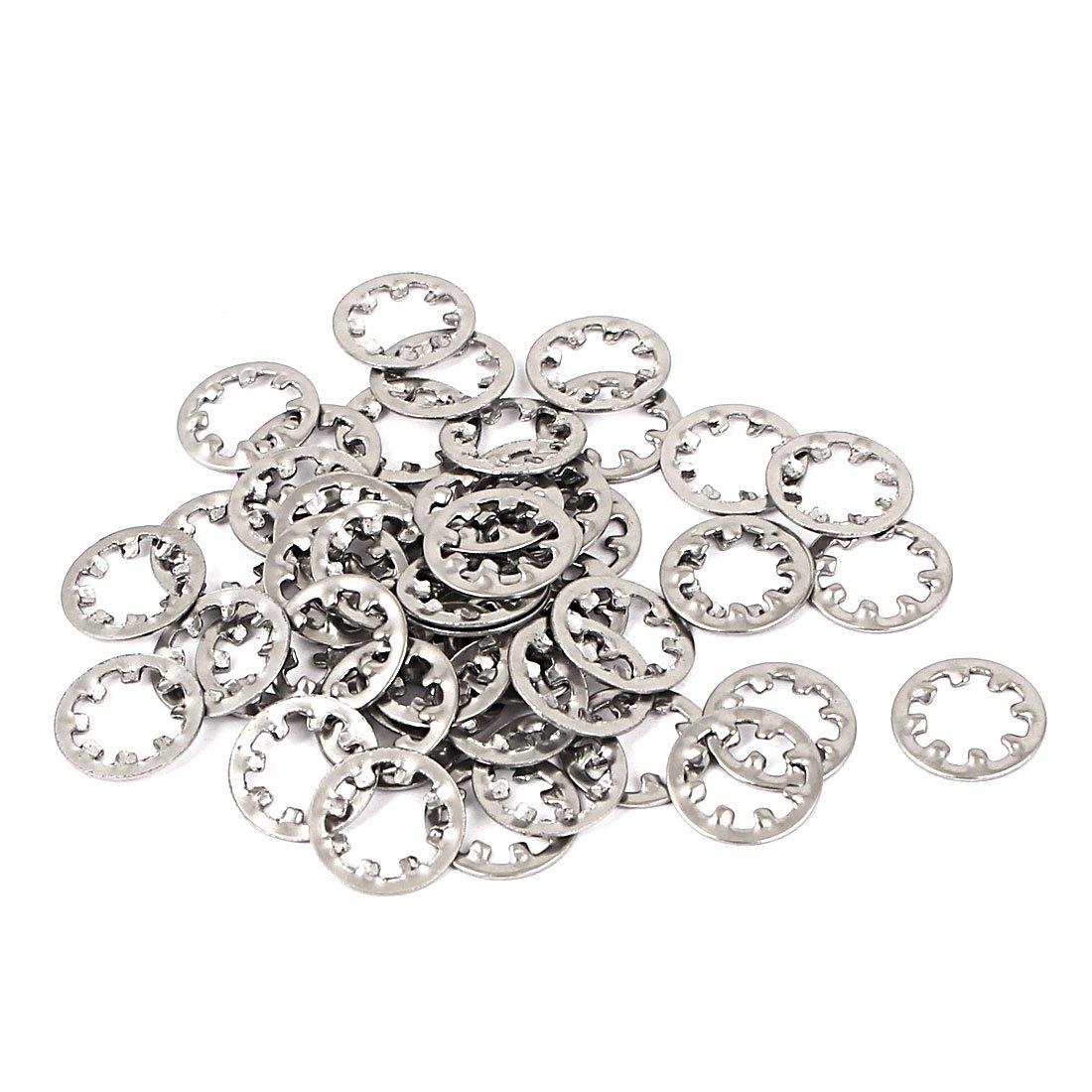 uxcell® M6 304 Stainless Steel Internal Star Lock Washers 50 Pcs a16012900ux0716