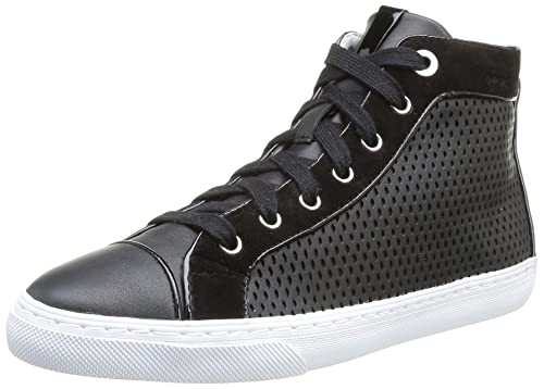 Geox Women's D New Club B Trainers Black black (Black) 6.5