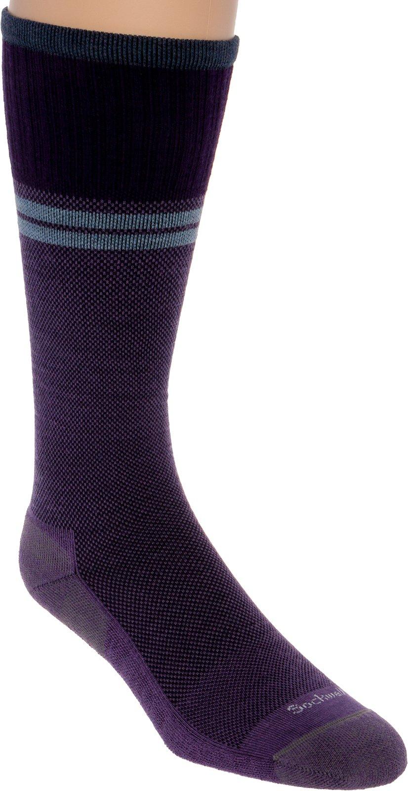 Sockwell Men's Sportster Graduated Compression Socks, Plum, Medium/Large