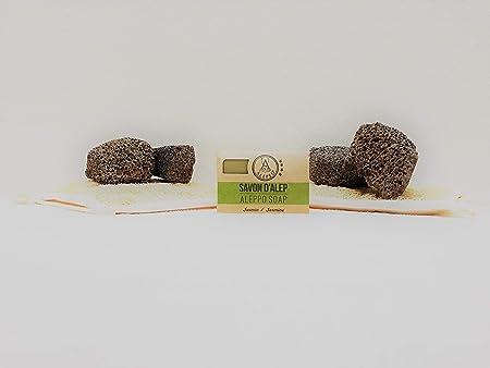 ALEPEO | Jabón de Alepo | Jabón con forma de jazmín | Con laurel y aceite de oliva para el cuerpo y el pelo | 100% vegetariano, hecho a mano, sin ...