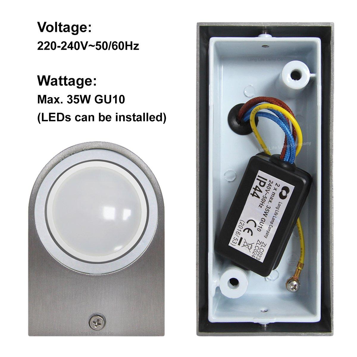 Modern Double Outdoor Wall Light IP44 Up//Down Outdoor Wall Light ZLC023