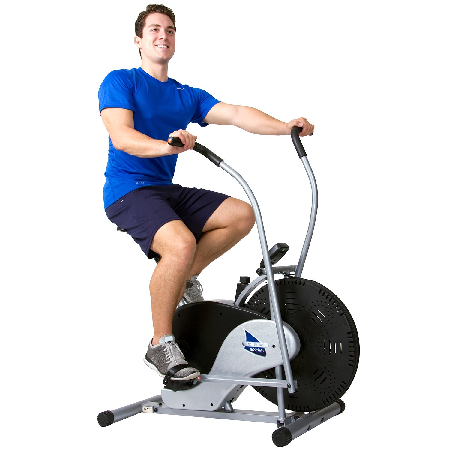 Body Rider Exercise Upright Fan Bike (with UPDATED Softer Seat) Stationary Fitness/Adjustable Seat BRF700 by Body Rider (Image #2)