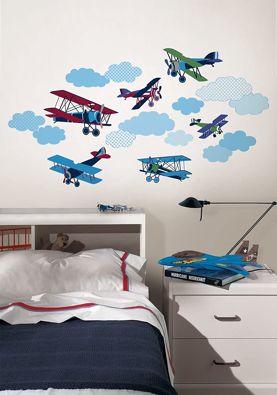 wall pops wpk0629 mighty vintage planes wall decals decorative wall pops wpk0629 mighty vintage planes wall decals decorative wall appliques amazon com