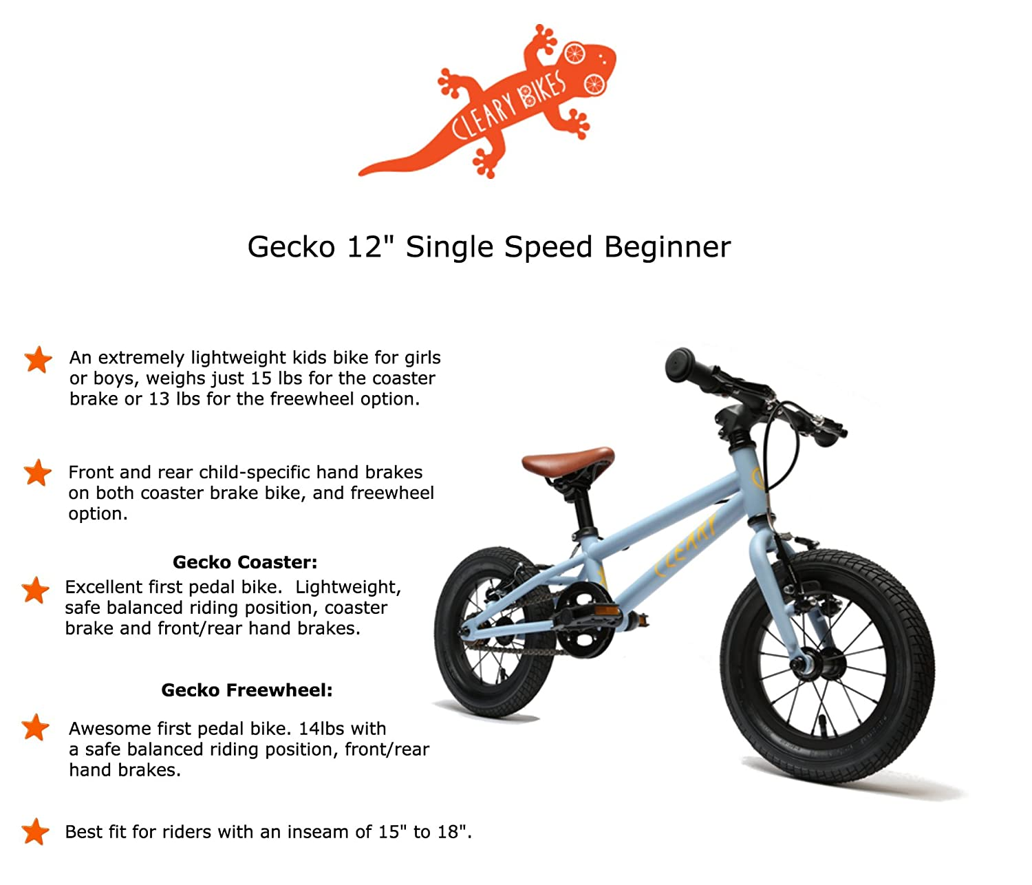 Cleary Bikes 12 Single Speed Bikes For Kids