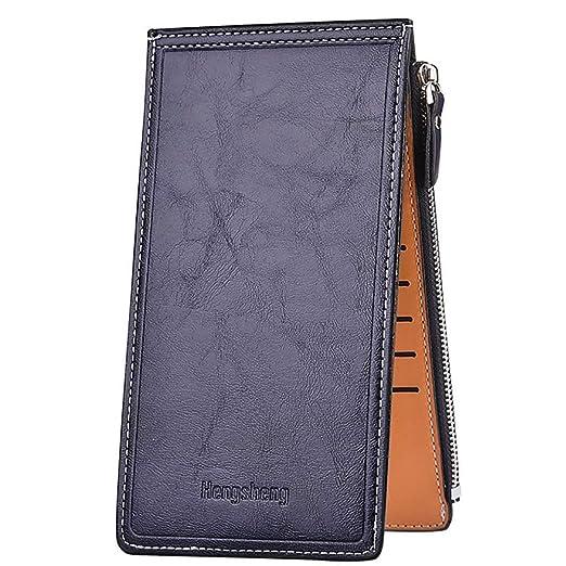 ad02f61c3cc2 Amazon.com: HYSGM Women Purse Solid Color Zipper Card Coin Holder Long Wallet  Clutch Handbag (Black): Clothing