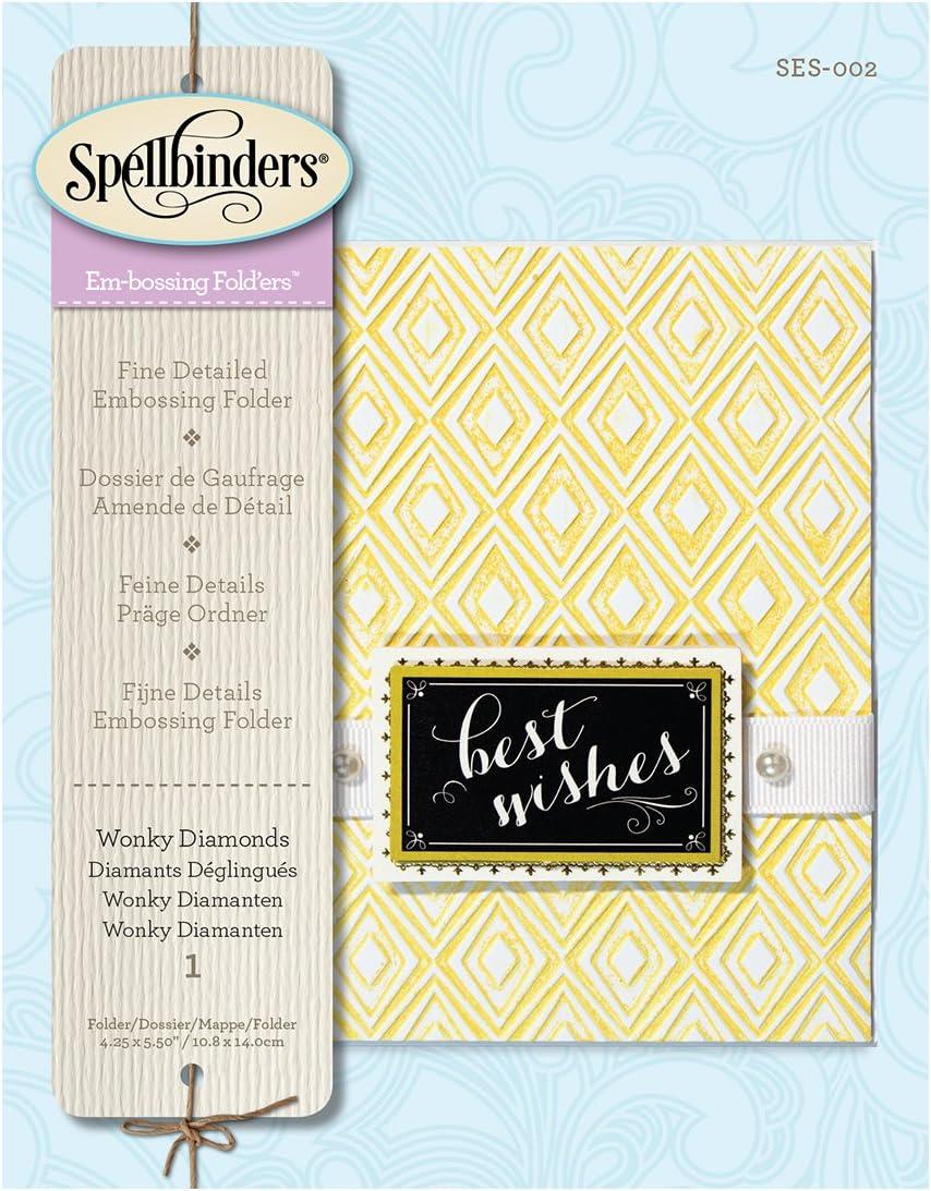 Spellbinders SES-002 Wonky Diamonds Embossing Folders