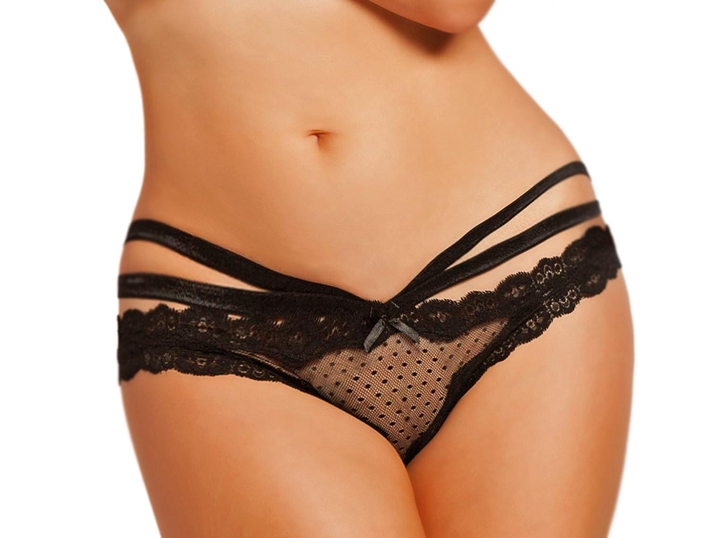 cb08273e4b5 Amazon.com  Lacy Line Sexy Open Crotch Open Back Mesh Strappy Panties   Clothing