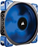 Corsair CO-9050043-WW ML Series ML120 Pro LED 120 mm Low Noise High Pressure Premium Magnetic Levitation LED Fan - Black/Blue