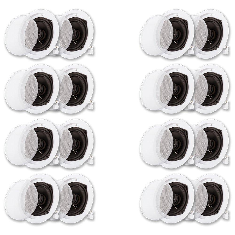 Acoustic Audio R191 In Ceiling / In Wall Speaker 8 Pair Pack 2 Way Home Theater 3200 Watt R191-8PR
