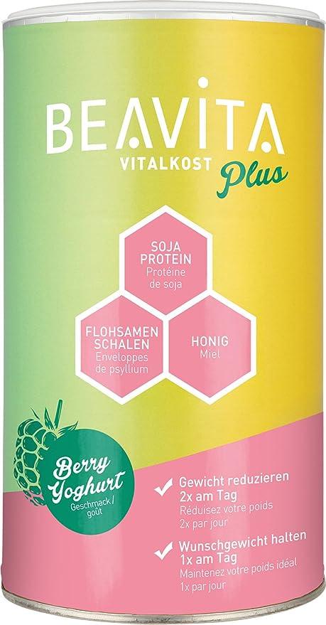 BEAVITA Vitalkost sabor frambuesas & yogurt | 572g | 208 kcal en cada porción | Fácil