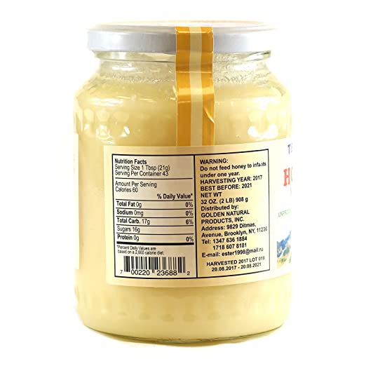 Amazon.com : Tien-Shan Organic Mountain and Flower Honey Unprocessed Unheated or strained free of pesticide (Tien-Shan Organic Mountain Honey Plastic ...