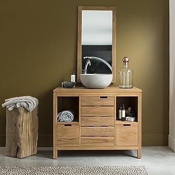 Waschtisch Waschbeckenschrank Badezimmer Unterschrank massiv Holz ... | {Badmöbel holz 77}