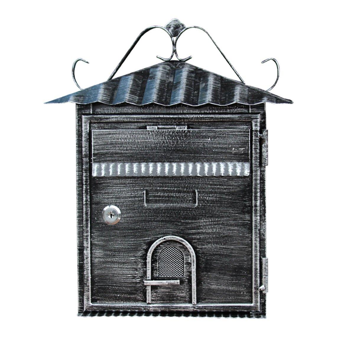 HZBc ヨーロッパスタイルのヴィラ郵便受け屋外レシートボックス、レターボックス、壁掛けの提案箱、壁の装飾   B07L28RFBZ