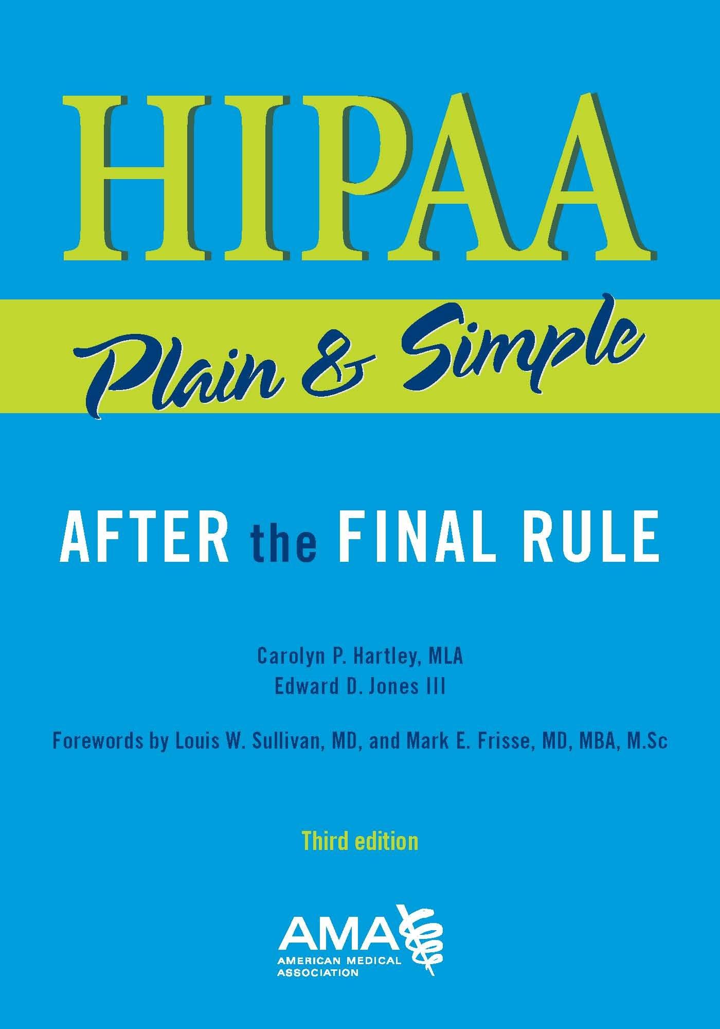 HIPAA Plain and Simple