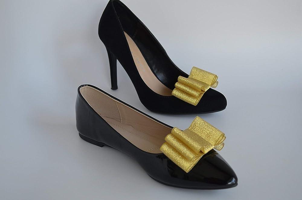 Chevron Shoe Clips Yellow /& White Clips Shoe Clips Grosgrain Shoe Clips Ribbon Shoe Clips Shoe Accessories Yellow Chevron Shoe Clips