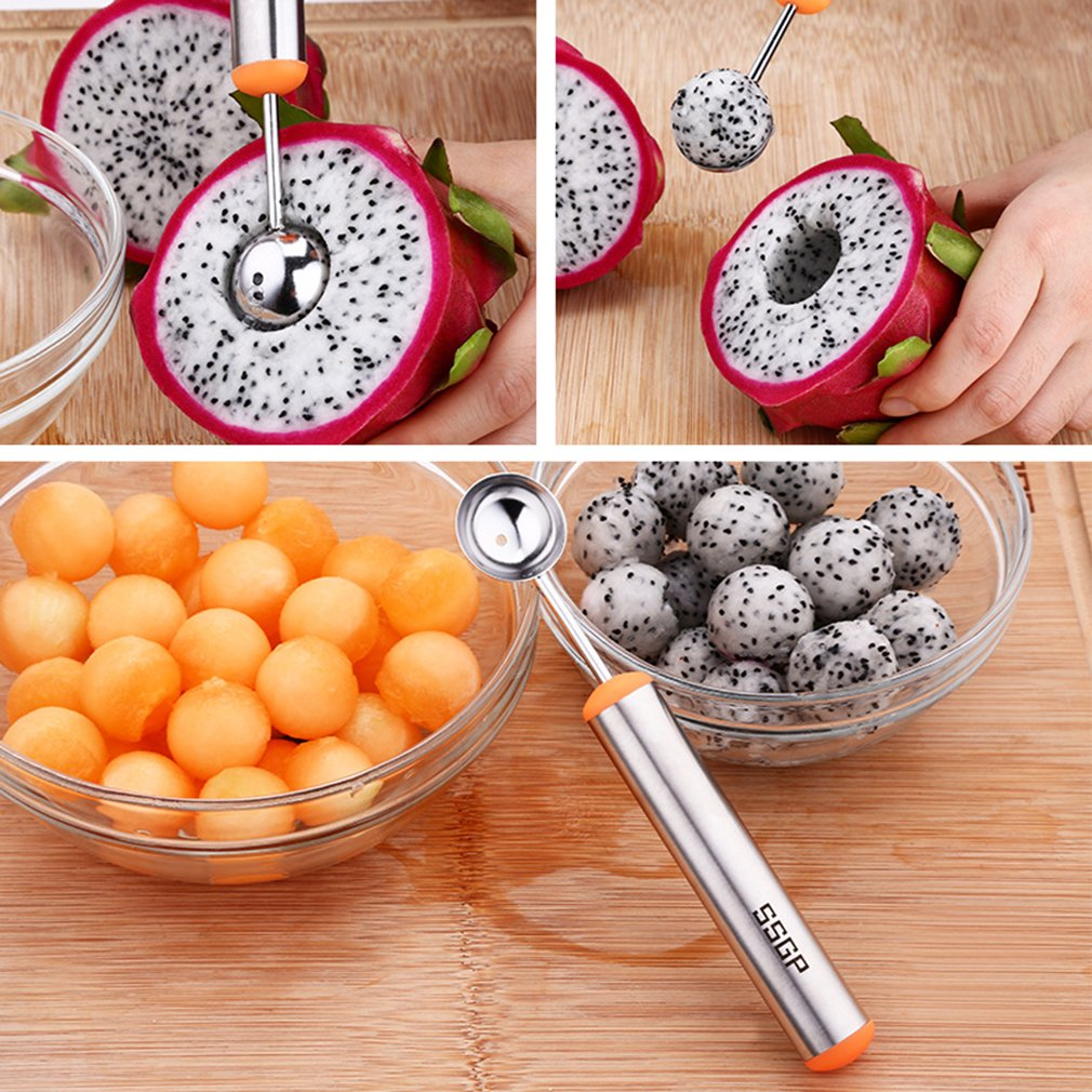 La Vogue Stainless Steel Melon Baller Scoop Multifuntional Fruit Tools Silver