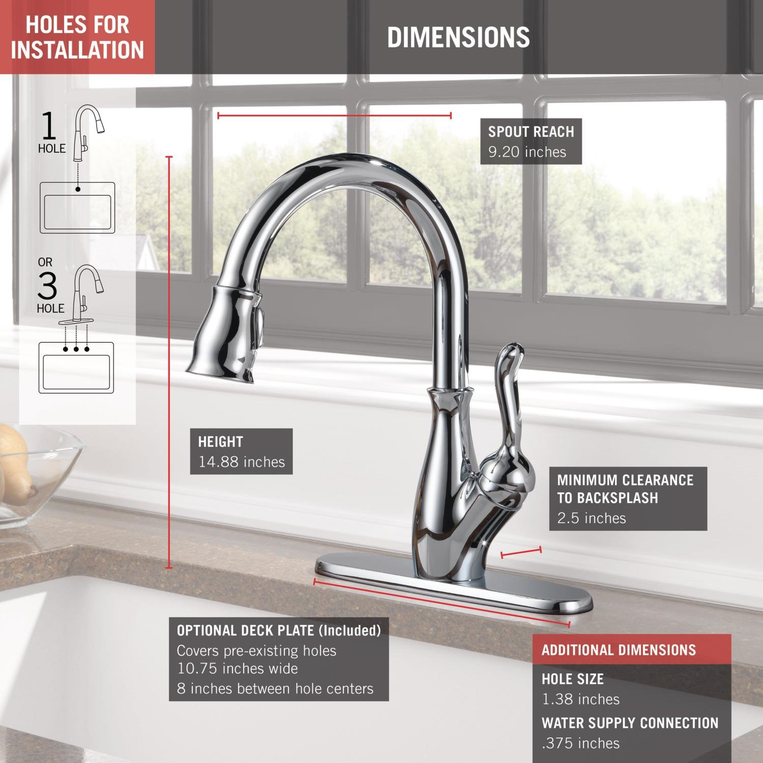 Delta Faucet Leland Single Handle Kitchen Sink With Pull Down Parts Diagram For Gourmet 150 450 Sprayer Shieldspray Technology And Magnetic Docking Spray Head Chrome 9178 Dst