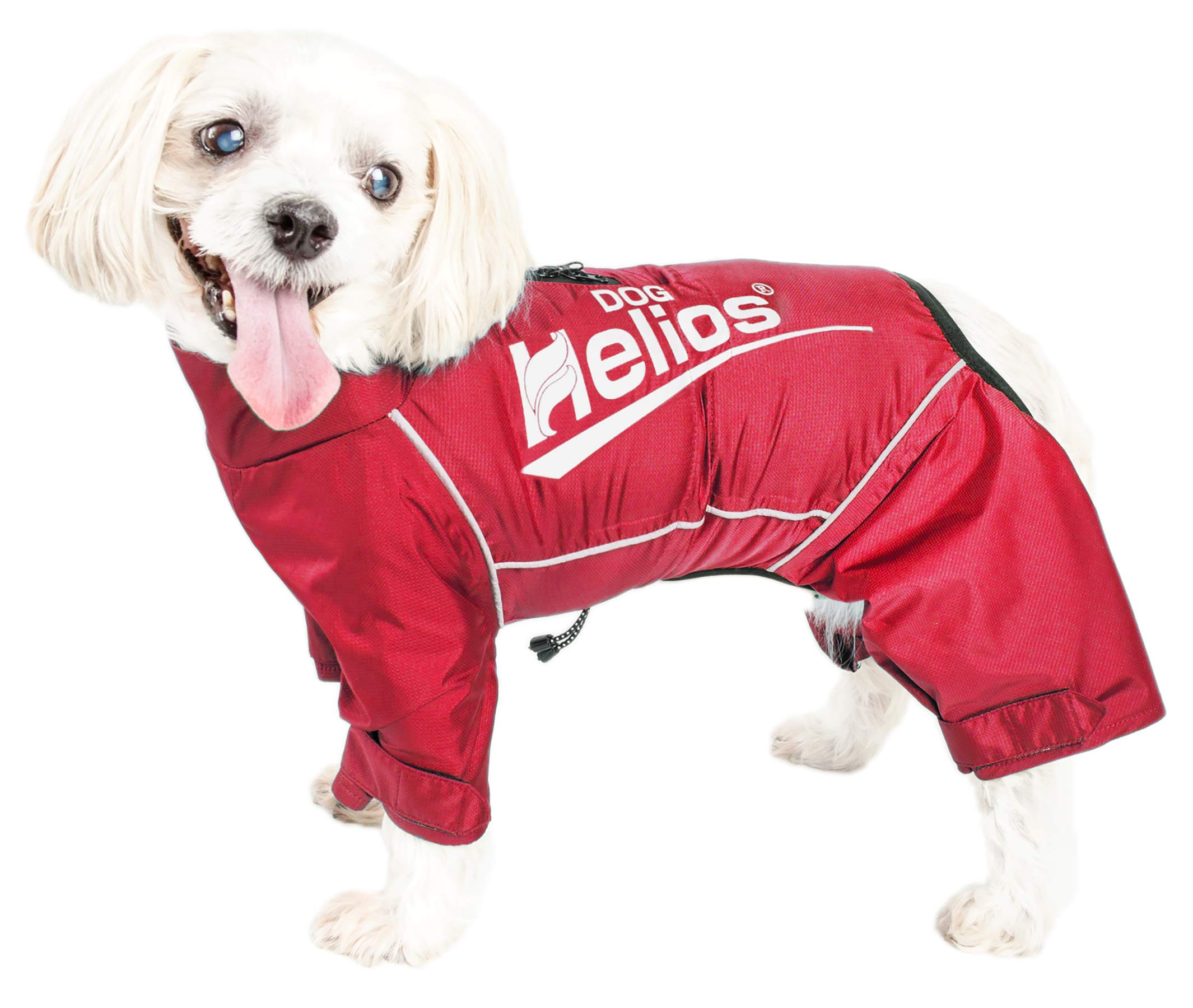 Dog Helios 'Hurricanine' Waterproof and Reflective Full Body Dog Coat Jacket W/Heat Reflective Technology, X-Large, Red by Pet Life