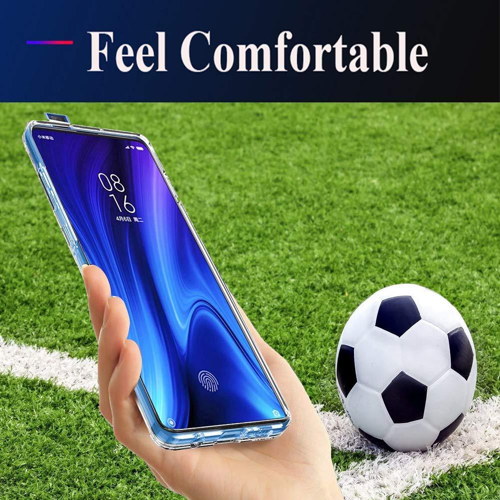 UCMDA Cover Xiaomi Mi 9T/Mi 9T PRO Custodia + Pellicola Protettiva in Vetro Temperato, Morbido Silicone Custodie Protettivo [Anti Graffio][Antiurto] Cover per Xiaomi Mi 9T/Mi 9T PRO