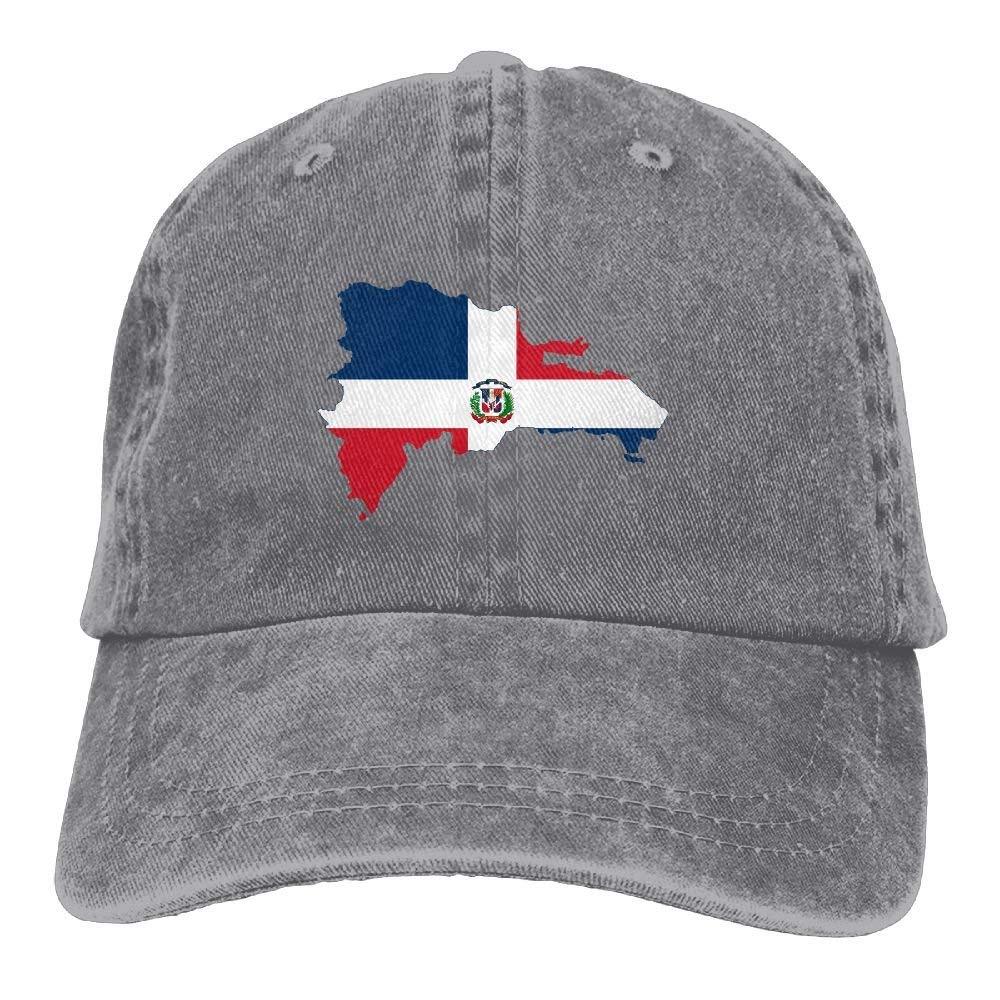 Dominican Republic Map Flag Adult Cowboy HAT