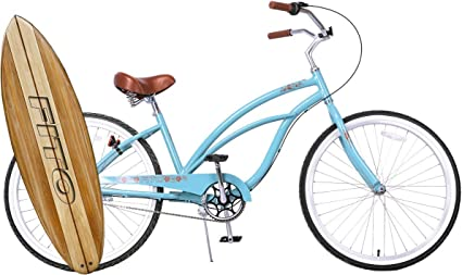 "Beach Bicycle Gloss Blue NEW 26/"" Huffy Nel Lusso vintage Women/'s Cruiser Bike"