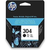 HP 304 N9K06AE, Negro, Cartucho de Tinta Original, compatible con impresoras de inyección de tinta HP DeskJet 2620, 2630…