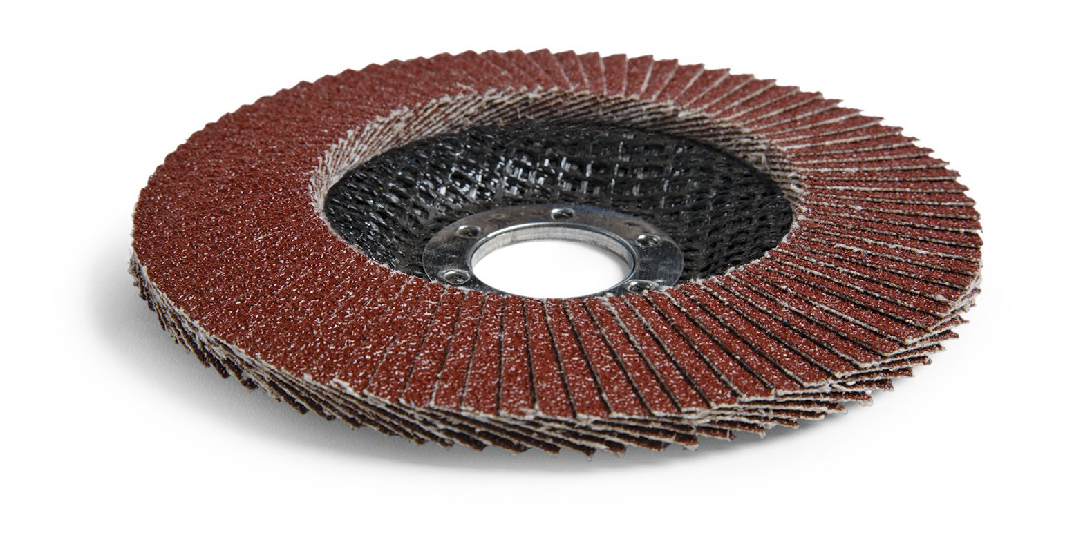 3M Cubitron II Flap Disc 967A, Type 29, Threaded Attachment, Cloth, Ceramic Grain, 4-1/2'' Diameter, 60+ Grit, Brown (Pack of 10)