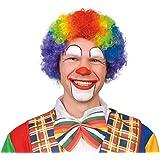 Rainbow Multicoloured Wig Curly Hair Kids Girls Boys Fancy Party Clown Costume Sports Mens Womens