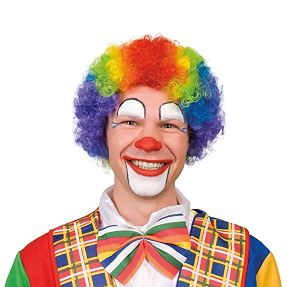 Diseño de arco iris peluca de pelo de varios colores de pelo rizado infantiles de Fancy