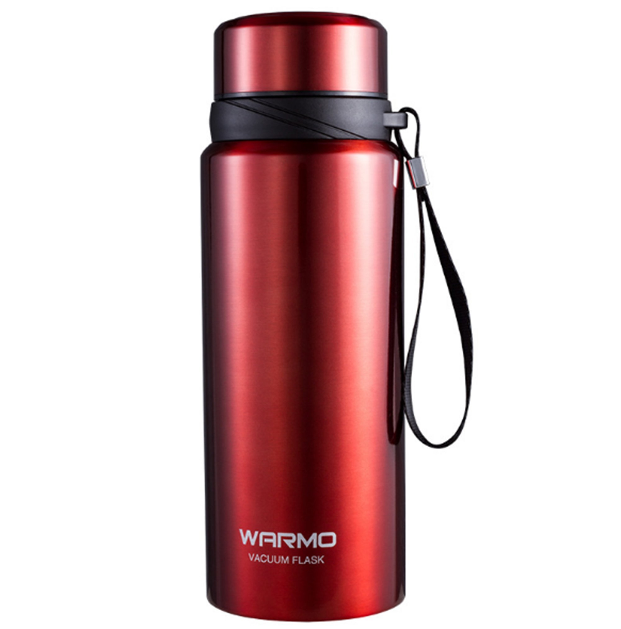 NOMSOCR 27 oz Water Bottle withStrap, Stainless Steel Insulated Water Flask with Leak Proof No Spill Lid for Coffee Hot Cold Liquids, Sport Water Mug for Outdoor Running Cycling (Red, 27-Ounce)