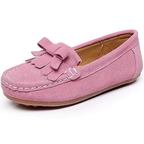 Shenn Chicas Linda Comodidad Borla Ante Cuero Mocasines Zapatos S012: Amazon.es: Zapatos y complementos