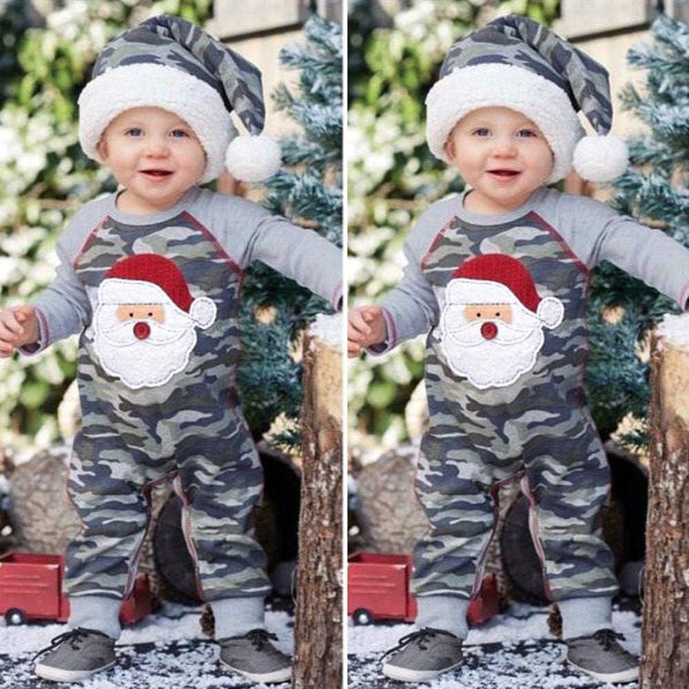 Memela Baby Girl Boy Christmas Romper Jumpsuit Long Sleeve One-Piece Bodysuit Snowflake Deer Pajamas Outfit Clothes
