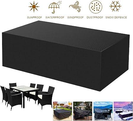 Fundas Muebles Jardín,Impermeable Funda para Muebles de Jardín Impermeable Oxford Muebles de Jardin Cubierta Anti-UV para Sofa de Jardin, al Aire Libre, Mesa y Sillas ,270x180x89cm/106x70x35: Amazon.es: Hogar