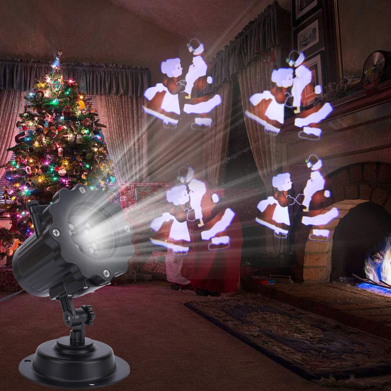 2019 Neujahr LED Projektor Lampe 16 Folien Dekoration Geburtstag Party Valentinstag ALED LIGHT Wasserwelle/&Gobos Licht Projektion Wasserdichte Au/ßenbeleuchtung Licht Projektor mit Fernbedienung