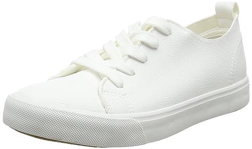 Find Zapatillas de Piel para Mujer, Blanco (White), 41 EU