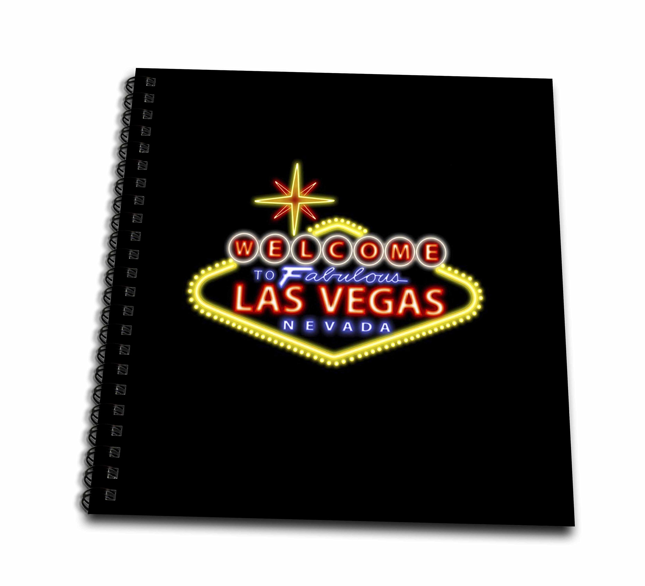 3dRose Welcome to Fabulous Las Vegas Nevada - Memory Book, 12 by 12-Inch (db_123044_2) by 3dRose