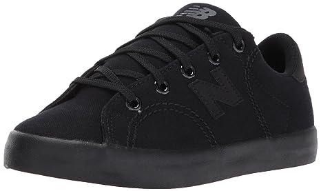 New Balance Boys' Court Shoe Sneaker, Black/Blac, 2.5 Wide US Little Kid