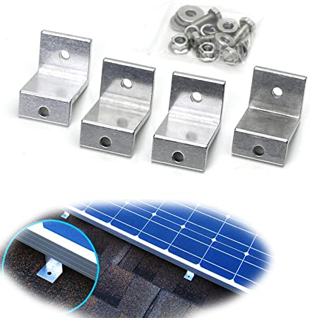 Solar Panel Mounting Bracket Clamp Aluminum Kit Set For RV Boat Off Grid Roof