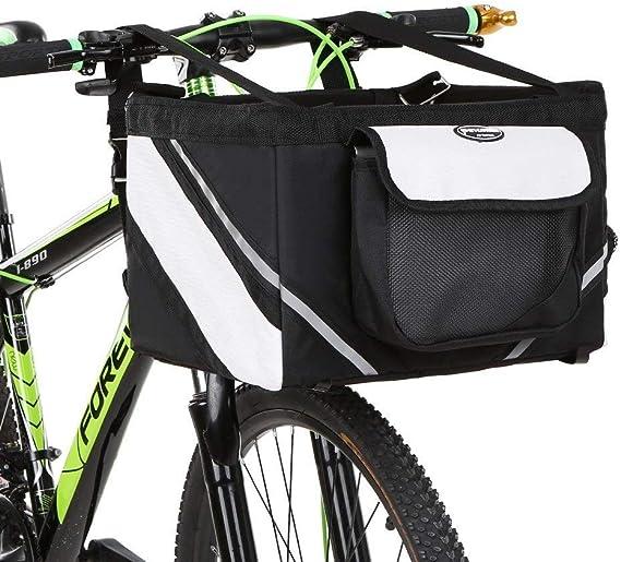 LLLingc-BIKE Bicicleta Manillar Cesta Bicicleta Frente Bolsa Caja ...