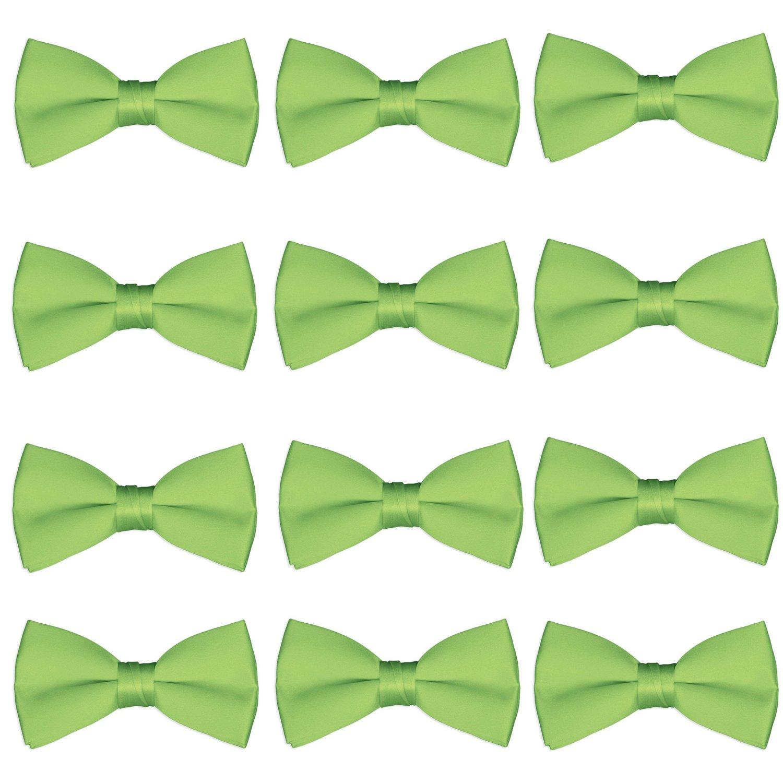 Boys Wedding Bow Tie 12 Pack Children Bowties Kids Tuxedo Solid Ties