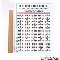 MeterMall Práctica para Acordes de Piano Tabla de Prácticas Estudiantes Aprendizaje Dedos Profesores Tecnológicos Lecciones de Música Enseñanza Práctica Guía SZQZW-1221USEAD27BE1148