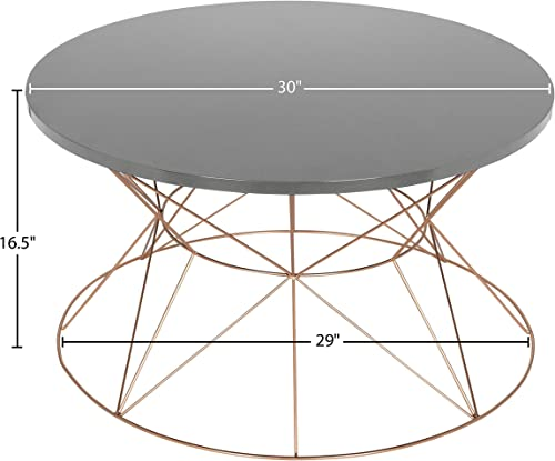 Furniture HotSpot Round Metal and Glass Coffee Table Chrome – 33.75 W x 33.75 D x 18.25 H