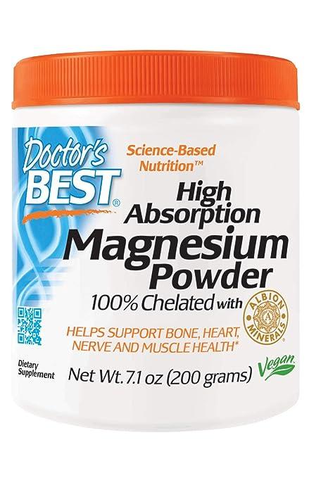 Alta absoprtion magnesio en polvo, con TRAACS, 7.1 oz (200 g) -