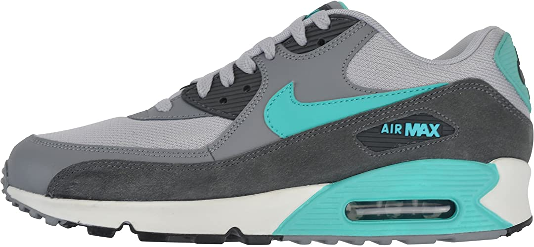 Infectar Abiertamente enemigo  Nike Air Max 90 Essential - 537384-033 - Grau,Türkis , 45.5 EU: Amazon.de:  Schuhe & Handtaschen