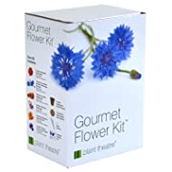 Plant Theatre Gourmet Flower Seed Kit Gift Box - 6 Edible Flower Varieties to Grow, includes: BATCHELORS BUTTON BLUE BOY, CALENDULA, DIANTHUS, MARIGOLD SPARKY, NASTURTIUM & JOHNNY JUMP UP PANSY SEEDS. Everything you need to start growing in one box! Great Grow Kit Gift!